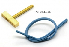 Soldering iron attachment T-TIP for applying foil cables