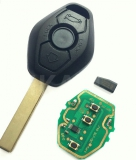 Entry Remote Key Fob Transmitter Met Uncut Blade Voor BMW E46